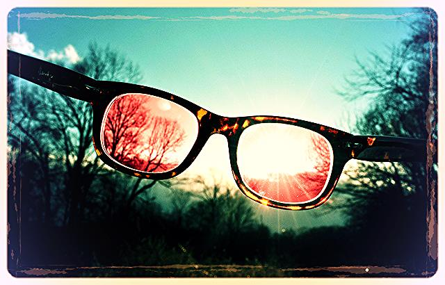 what color glasses are you wearing?